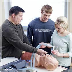 Respiratory Care Student in classroom