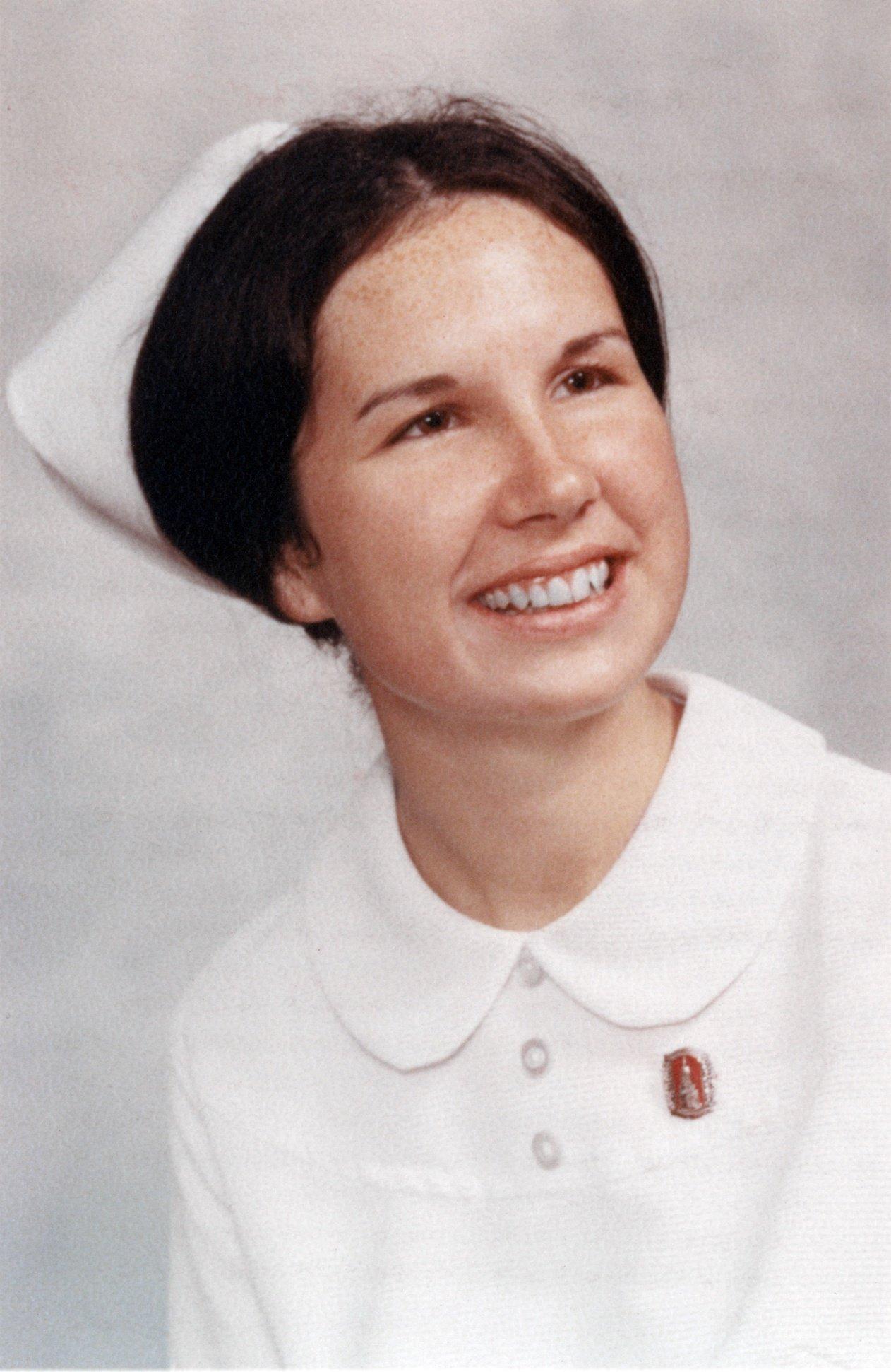Lin Hughes graduated from nursing school in 1972.