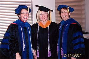 Lin Hughes at NMC's December 2007 graduation.