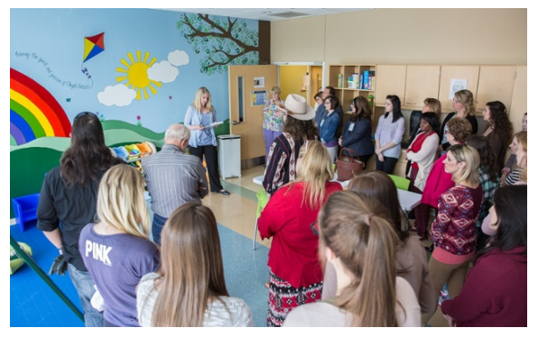 NMC Pediatric Occupational Therapy Lab mural unveiled