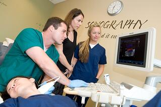 Cardiovascular sonography class at Nebraska Methodist College