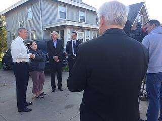 Press conference with congressman Brad Ashford on lead removal in Omaha