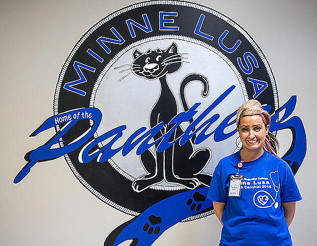 NMC alum Andrea Staton is the school nurse for Minne Lusa Elementary School.