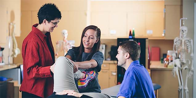 A physical therapist assistant program can be a natural step for exercise science majors.