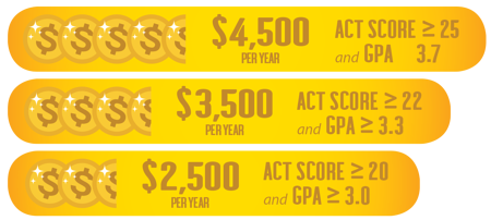 Check out the three tiers of our Upfront Merit Scholarships for First-Year Students.