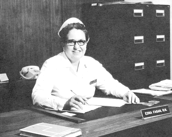 Over the course of her 44-year association with Methodist Hospital and Nebraska Methodist College (then the Methodist Hospital School of Nursing), Miss Fagan was a student, staff nurse, night nurse, nursing school supervisor/director/dean, vice president, alumni outreach advocate and national speaker.