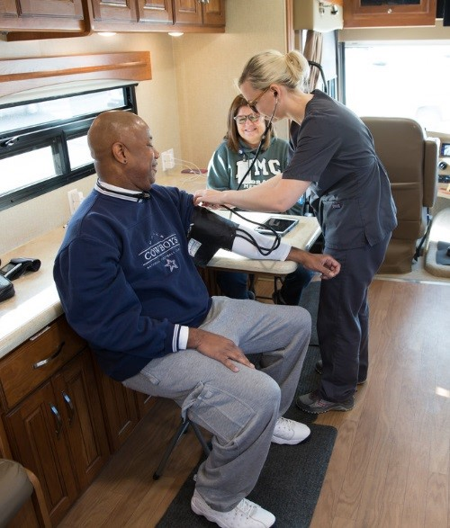 NMC's Mobile Diabetes Center brings free non-diagnostic screenings to the community.