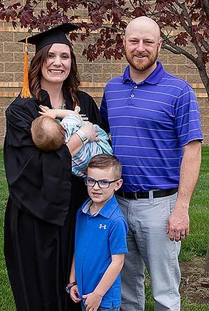 Christa, Joe, Truman and Macklin at graduation.