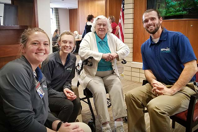 Students in the Nebraska Methodist College MOT program meet Lucy Fowler, one of Nebraska's first occupational therapists.