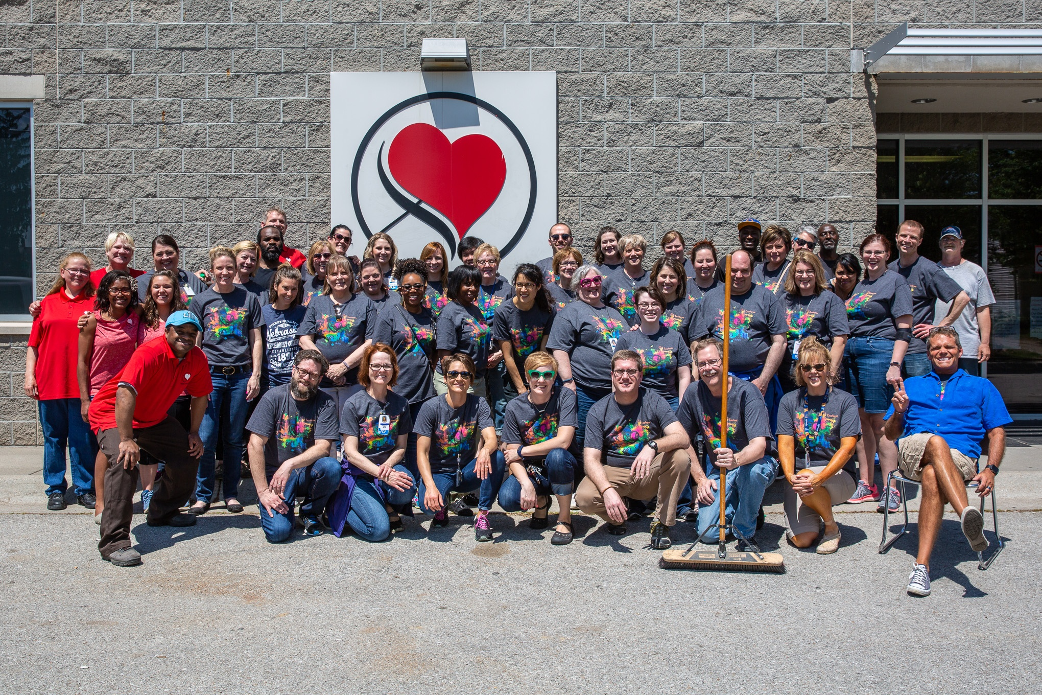 The team of NMC faculty and staff who volunteered at Heart Ministry Center with Fresh Start program members.