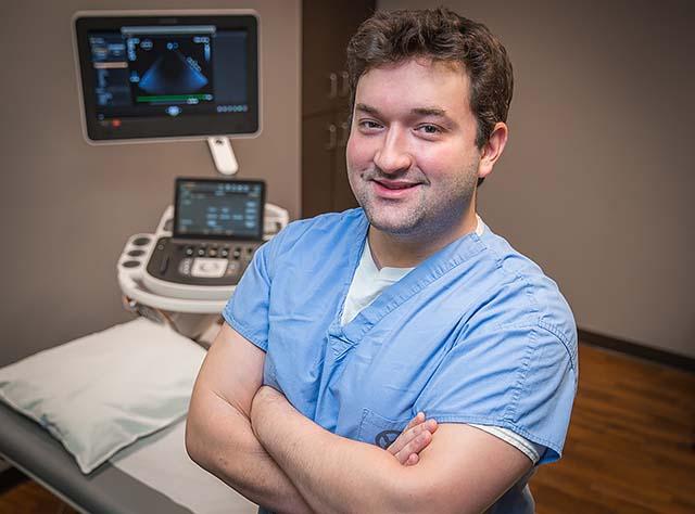 Image of NMC Cardiovascular Sonography Graduate Alex Belsky