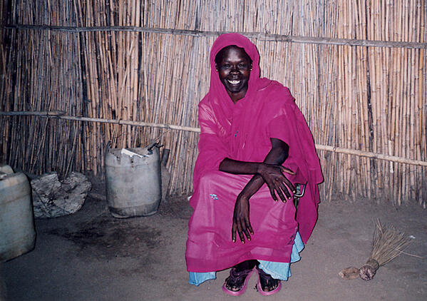 Anna pictured here in her home village.