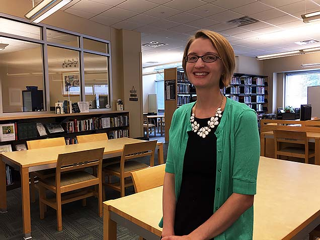 Emily McIllece is the new Director of the John Moritz Library at Nebraska Methodist College.