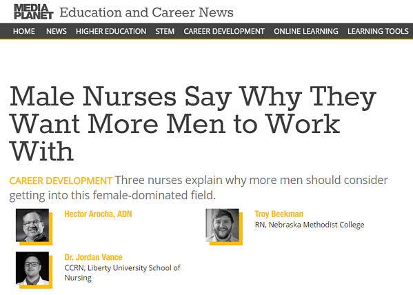 Mediaplanet Education and Career News: Three nurses explain why more men should consider getting into this female-cominated field.
