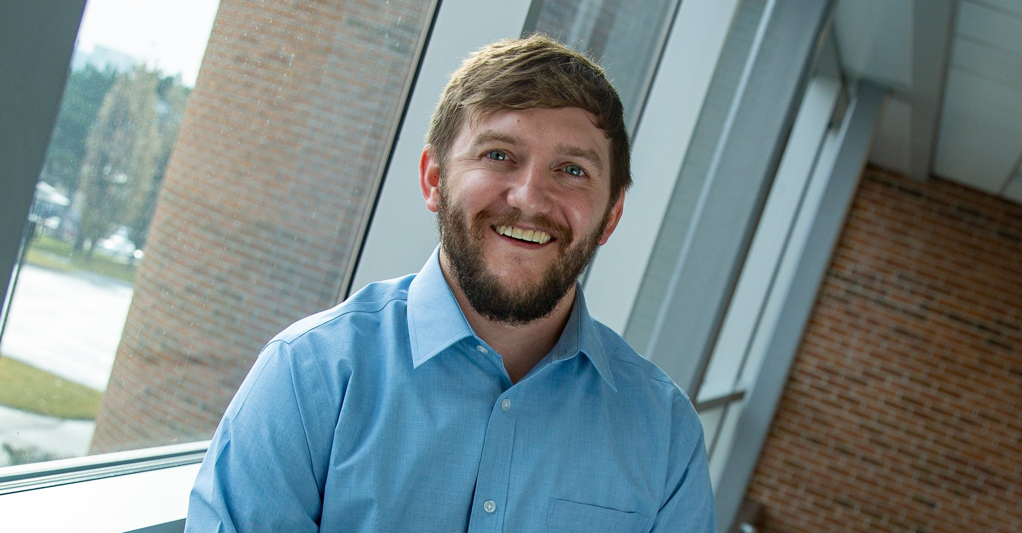NMC alumnus and returning graduate student Troy Beekman at Nebraska Methodist College.